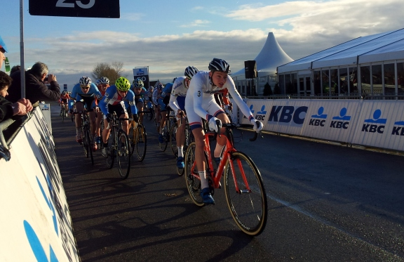 The Under 23's set off, lead by the series leader